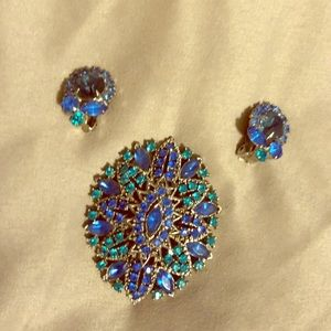 Vintage Brooch and Earring Set